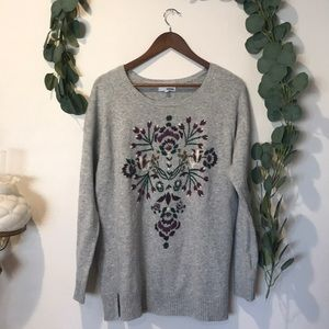 SONOMA embroidered oversized sweater